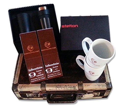 Coffeepolitan Geschenk-Set für Paare: Kaffee-Weltreise mit Zubereitungsset; ideal auch als Hochzeitsgeschenk oder Kaffee Probier-Set