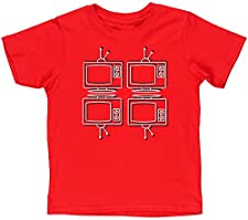 Hippowarehouse Retro tv Kids Children's Short Sleeve t-Shirt