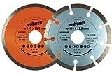 Wolfcraft 8390000 2 Diamant-Trennscheiben ø 110 mm