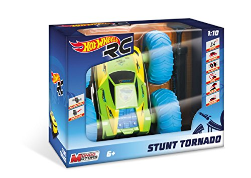 HOT WHEELS - R/C COCHE 1:10 CON RUEDAS HINCHABLES STUNT TORNADO - CAR RC - (MONDO TOYS 63441)