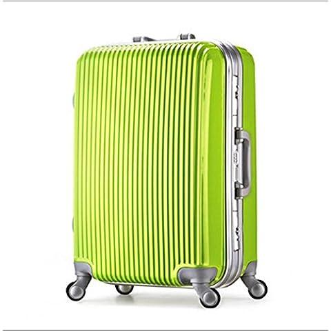 20 pollici 24 pollici 28 pollici ruota universale leva viaggio impermeabile ABS valigia bagaglio di viaggio diversi SuitcaseColour & taglia (36-55L) , 005 , 24 inch