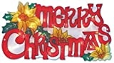 The Benross Christmas Workshop Merry-Christmas-Schriftzug mit LED-Beleuchtung, Metallic-Optik