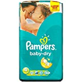 Pampers Baby Dry Nappies Large Pack, Size 4 (Maxi), 62 Nappies