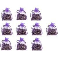 10 pcs 5 G Bolso de bolsas de Organza de flores de lavanda seca - acogedor bolsa sobres lleno de lavanda seca - Natural aroma fragancia para aromatherapy-car-closet-drawers-moths-wardrobe