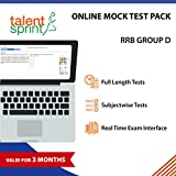 #7: Online Mock Tests- RRB-Group-D (Valid for 3 months) - 10 Full length tests and 10 Subjectwise tests in Real Time Exam Interface