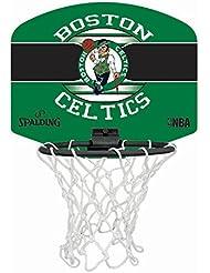 Spalding NBA Miniboard Boston Celtics 77-651Z Minicanasta, Unisex, Multicolor, Talla Única