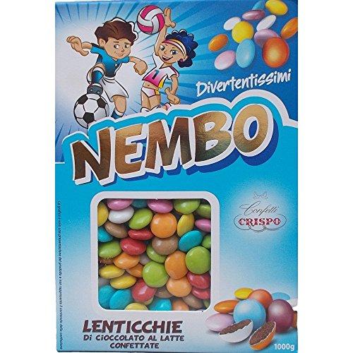 Confetti crispo nembo lenticchie tipo smarties assortiti 1000 gr bomboniere - 6030