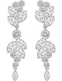 Swarovski Damen-Ohrhänger Diapason Medium rhodiniert Kristall transparent - 5180709
