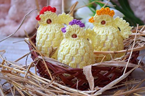 Ostern häkeln Ei wärmer Küken Satz von 3 Ostern Hühnern