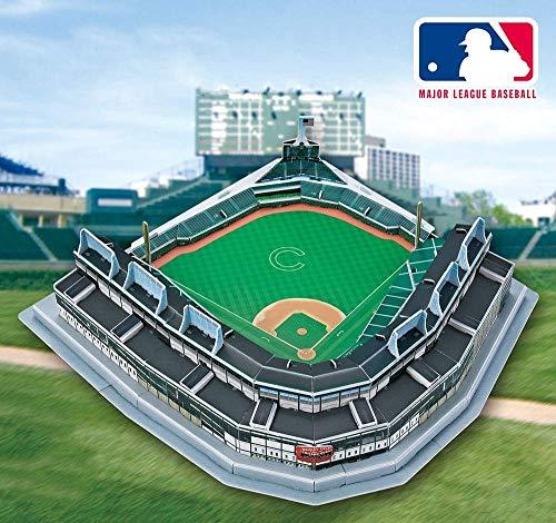 YWAWJ Sports Stadium 3D Dreidimensionale Erwachsenen Puzzle Chicago Cubs Heimspiel Wrigley-Stadion Modell Baseball Field Modell Fans Souvenir