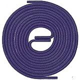 LACCICO Finest Waxed Laces® Durchmesser 2 mm Runde Dünne Elegante Gewachste Schnürsenkel Länge: 120 cm Farbe: Lila