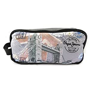 Pepe Jeans [L6562] - Trousse double compartiment 'Pepe Jeans' gris (Tower Bridge)