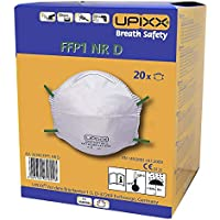 Feinstaubmaske FFP1, ohne Ventil, VE 20 Stk, weiß - Masken Feinstaubmasken Schutz preisvergleich bei billige-tabletten.eu