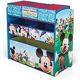 Disney Mickey Mouse Wooden Multi Bin Toy Organiser