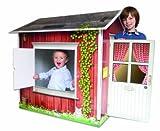 Spielhaus aus stabiler Pappe im Schwedenstil - Made in Germany