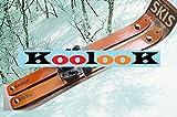 Koolook Paire de skis en bois pour enfants avec système d'attache universel 70 cm