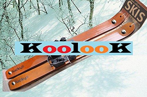 Sci in legno per bambini KoolooK con attacco universale 90 cm