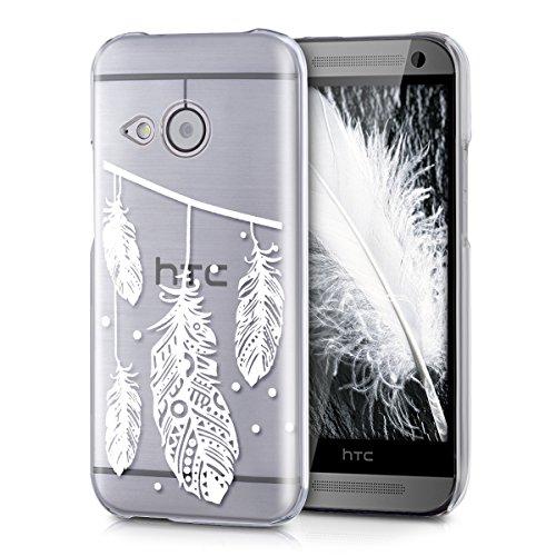kwmobile HTC One Mini 2 Hülle - Handyhülle für HTC One Mini 2 - Handy Case in Weiß Transparent (Htc One Mini 2 Case)