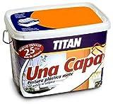 Titan M125530 - Pintura plastica monocapa mate de 2 5 l naranja