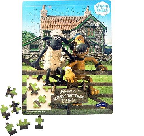 Shaun das Schaf Puzzle / Holzpuzzle / Puzzle aus Holz / Shaun das Schaf, bekannt aus Film und Fernsehen, begeistert nicht nur Kinder mit seiner verschmitzten und neugierigen Art. Jetzt kommt Shaun und sein Bauernhof-Mitbewohner Bitzer der Hütehund auch als Puzzle daher. Dieses 100-teilige Puzzle begeistert durch die ausdrucksstarken Farben und schult außerdem die Motorik und Konzentration.