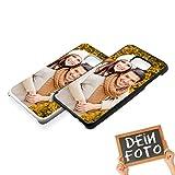 Handyhülle für Samsung Galaxy-Serie selbst gestalten * eigenes Foto * Schutz mit eigenem Bild, Farbe:Schwarz, Handymodell:Samsung Galaxy S7 Edge