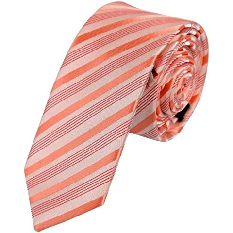 EAE1A28 Classic Design multicolore Felice Stripe Silk Mens Skinny Tie By (Ombra Stripe Tie)