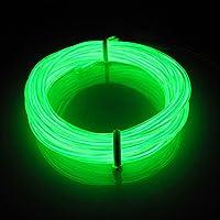 Lerway 3M Flessibile EL Neon Condotto LED Luce Bici Cucina Casa Camera Bagno Automobile Decorazione + controllore Trasformatore (verde