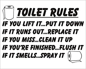 graphic about Printable Bathroom Rules called Bathroom Suggestions if your self raise it location it down Rest room Sticker Joke Novelty
