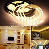 5 M STRISCIA STRIP 300 LED SMD 5630 LUCE CALDA 5 MT ALTA LUMINOSITA IMPERMEABILE