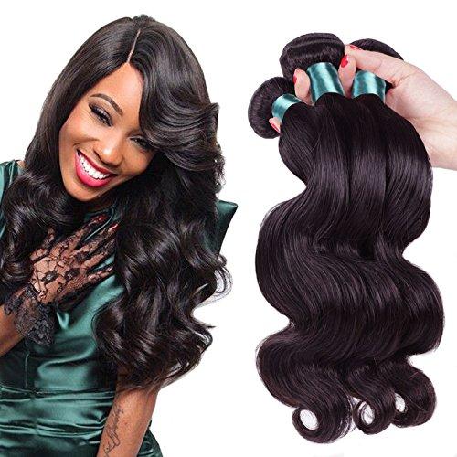 YanT – Lot de 3 tissages 8A cheveux naturels vierges péruviens ondulés de qualité noir