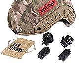 OneTigris Adapter für Helmschiene an taktischem Airsoft-Helm, Zubehör-Schienenverbinder, für FAST-, ACH-, MICH-, IBH-Helm