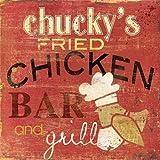 Feelingathome-Leinwand-Bild-Chuckys-Fried-cm57x57-Kunstdruck-auf-Leinwand
