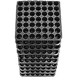 DILIGENT Seeds Seedling Tray, 49 Holes (Black) - Pack of 10
