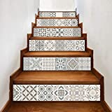 Theshy Stickers Muraux Diy Steps Sticker Autocollant Escalier Amovible Home Decor Carreaux Céramique Patterns Stickers Muraux Enfants Cuisine Salon Chambre