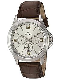 Titan Analog Silver Dial Men's Watch-NK1698SL01