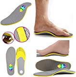 CrazyGadget® Orthotic High Arch Support Comfort Foot Massage Heel Cushion Comfort Shoe Trainer Boots Insoles Pad (1 Pair) - Unisex (7 - 12)