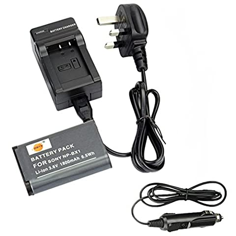 DSTE® NP-BX1 Rechargeable Li-ion Battery + DC134U Travel and Car Charger Adapter for Sony Cyber-shot HDR-CX240 HDR-CX240E DSC-RX1 DSC-RX10 II DSC-RX1B DSC-RX1R DSC-RX1R/B DSC-RX100 DSC-RX100 II DSC-RX100 III DSC-RX100 IV DSC-RX100/B DSC-RX100M2 DSC-RX100M2/B DSC-RX100M3 DSC-HX300 DSC-H400 DSC-HX400 DSC-HX50 DSC-HX50V/B DSC-HX50VB DSC-HX60 DSC-HX60V DSC-WX300 DSC-WX300/B DSC-WX300/L DSC-WX300/R DSC-WX300/T DSC-WX300/W DSC-WX350 HDR-MV1 HDR-AS15 HDR-AS15B HDR-AS15S HDR-AS100V HDR-AS100VR HDR-AS20 HDR-AS30V HDR-AS10 HDR-GW66 HDR-GW66V HDR-GW66VE HDR-GWP88 HDR-GWP88V HDR-GWP88VB HDR-GWP88VE HDR-PJ240E HDR-PJ275 Camera as NP-BX1/M8