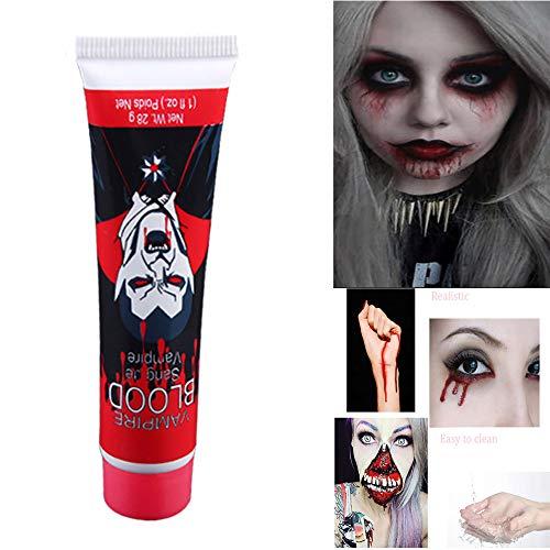 Hffan Karneval Halloween Kostüme Nachahmungen von Blut Künstliches simuliertes Plasma Make-up-Requisiten Dressup-Party Blutfarbe Reine Farbe Leicht zu reinigen - Scary Kostüm Zu Machen