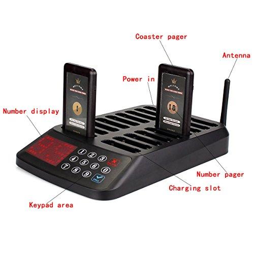 Tivdio T115 Cercapersone per Ristoranti Sistema di Chiamata Wireless  Accodamento con 1 Trasmettitore Tastiera + 18 Cercapersone Pagers 99 Canali  per ... 4034715db2e9