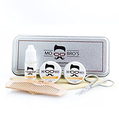 Beard Grooming Care Kit For Men - In A Gift Tin | Beard Comb & Beard Balm to Shape & Style | Beard Oil To Condition & Moisturise, Moustache Wax To Hold and Scissors To Keep Facial Hair Neat & Tidy by Braun