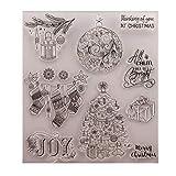 Dabixx Timbre Clair, Cadeau de Noël Timbre Transparent Timbre en Silicone Scrapbooking Bricolage gaufrage Papier Cartes décor à la Maison