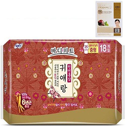 bodyfit-guierang-natural-red-ginseng-medium-sanitary-pads-18-count-dermal-korea-collagen-essence-ful