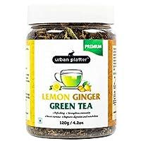 Urban Platter Lemon Ginger Green Tea, 120g / 4.2oz [Calming, Refreshing & Aromatic]