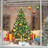 Prevently Weihnachtssticker Fensterbilder Weihnachtsbaum Weihnachtskugel Aufkleber Schlafzimmer Hintergrund Wandaufkleber Xmas Fensterbilder Aufkleber Dekoration