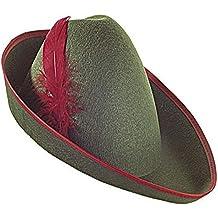 Sofias Closet Fancy Dress Robin Hood Hat Gren Red Feather Peter Pan Pied Piper Forest Hunter