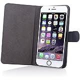 Gecko® Apple iPhone 6 Plus et 6S Plus Housse etui Slimfit - Noir - housse solide avec protection maximale / simili cuir de haute qualité de couleur noir