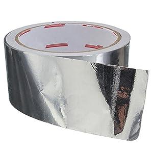 Funihut – Cinta Adhesiva de Aluminio, Resistente al Calor, Alta Temperatura, para reparación HVAC, conductos, Aislamiento, secadores, 5 cm x 17 m