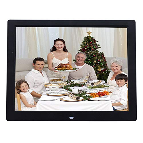 RENYAYA 14 Zoll Digital Photo Frame 1080P HD IPS LCD Display Electronic Picture Frame, HD Video/MP3/Electronic Photo/Advertising Display/Digital Clock/Calendar,Black - Zoll 14 Digital Photo Frame