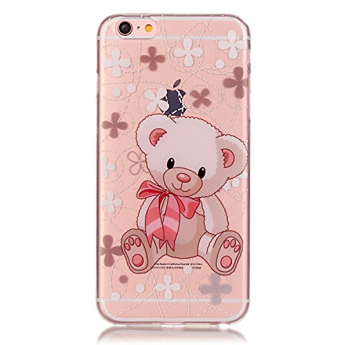 iPhone 6S Hülle,iPhone 6 Hülle,iPhone 6S Case,EMAXELERS Christmas Series Hard PC Case Phone Holster Transparent Handy-Tasche Hülle Cute Santa Claus Muster Glitter Flowing Bling Hülle Etui Schale Case  TPU 12