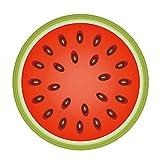 YOUJIA Fußmatte mit Frucht-Muster Türmatte Schmutzabstreifer Sauberlaufmatte Rutschfest Schmutzfangmatte (Wassermelone, 55cm)